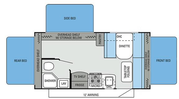 Innovative Jayco Pop Up Camper Floorplans  Jay Series Amp Jay Series Sport Amp Baja