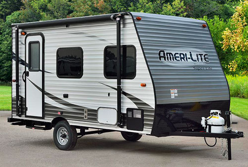 amerilite 14rbc small travel trailers. Black Bedroom Furniture Sets. Home Design Ideas