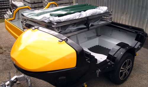 This way the c&er is converter to cargo trailer with the capacity to carry up to 100kg (220 lbs)of load. & Evo-Pod Motorcycle Camper | Micro Campers