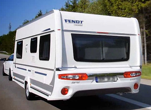 Model 5th Wheel Towed From Camping Cabopino To Camping Marjal Spain