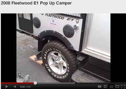 Fleetwood Pop up Camper Trailer