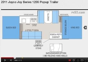 Unique Jay Feather SLX 16XRB Ultra Lite Expandable Trailer  Floorplan