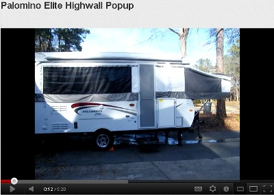 Palomino pop up camper trailer click on the picture to watch this presentation of the 2010 palomino elite pop up camper trailer by harleycamper sciox Gallery