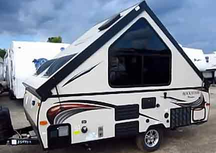 rockwood a122 hard side a frame pop up travel trailer