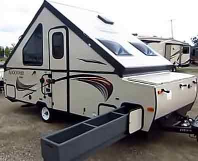 rockwood a212hw high walls a frame travel trailer