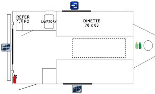 Prolite eco12 travel trailer mini campers for 12 foot travel trailer floor plans